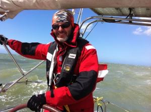 Dietmar bei 40 kn Wind